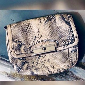 Vintage Coach Python Convertible Clutch Crossbody
